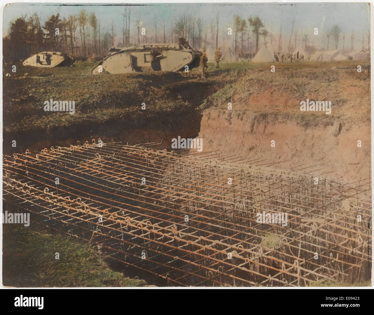 German pillbox in course of construction Stock Photo
