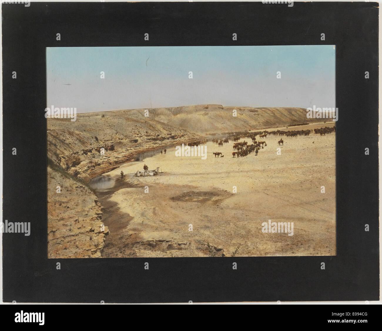 The halt at Wadi Guzzi Stock Photo