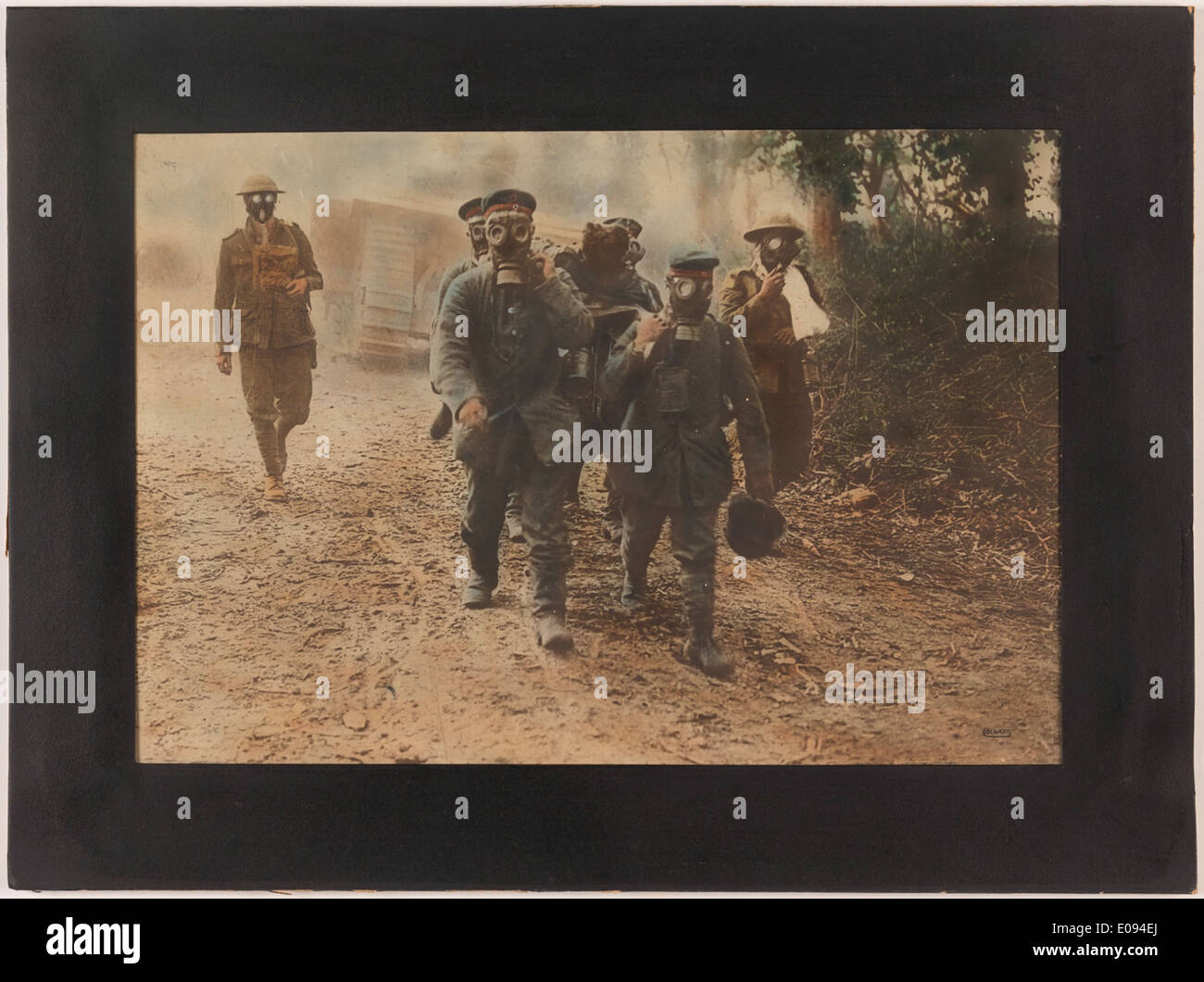 Gas about [German prisoners] Stock Photo