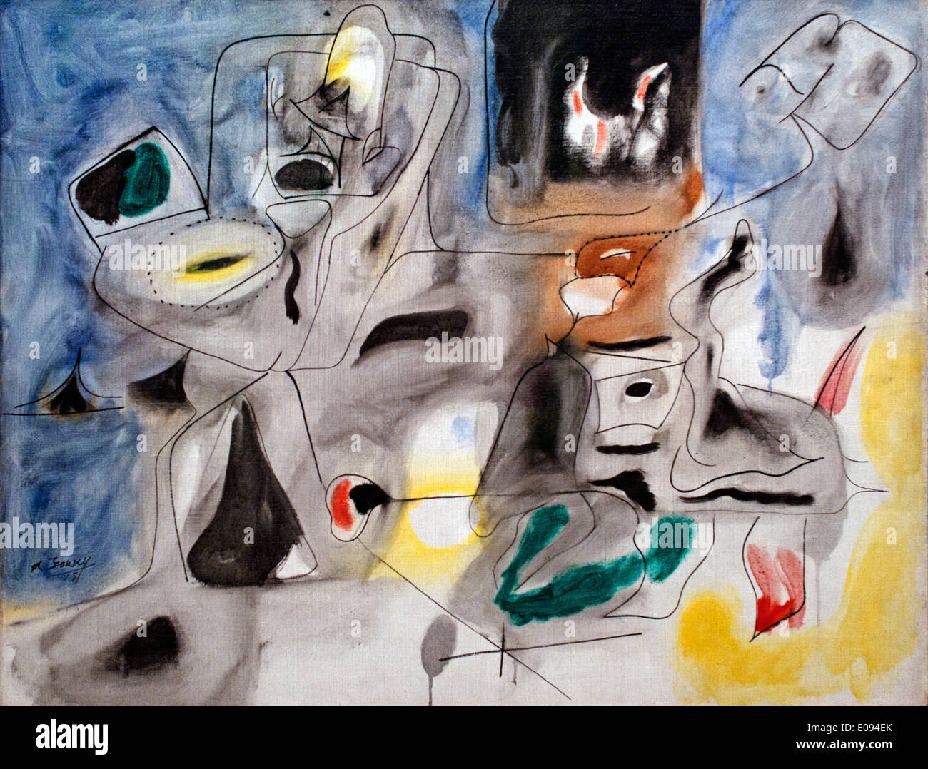 Good Hope Road II. Pastoral 1945  Arshile Gorky 1905-1948 Armenia Armenian - Stock Image