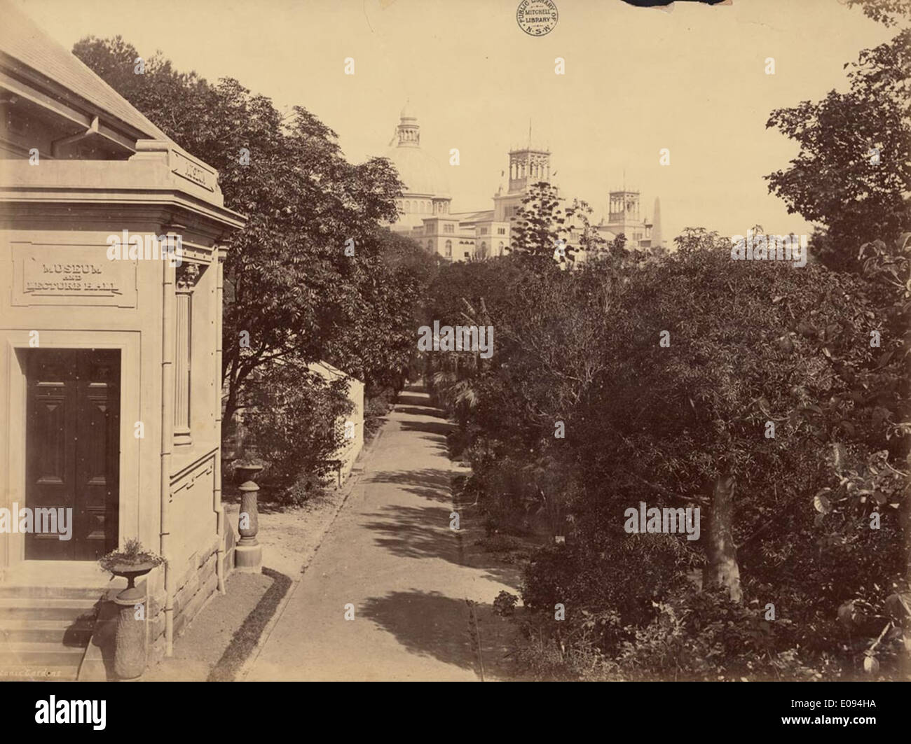 Botanic Gardens [Sydney / attributed to the New South Wales. Government Printing Office], 1879 Stock Photo
