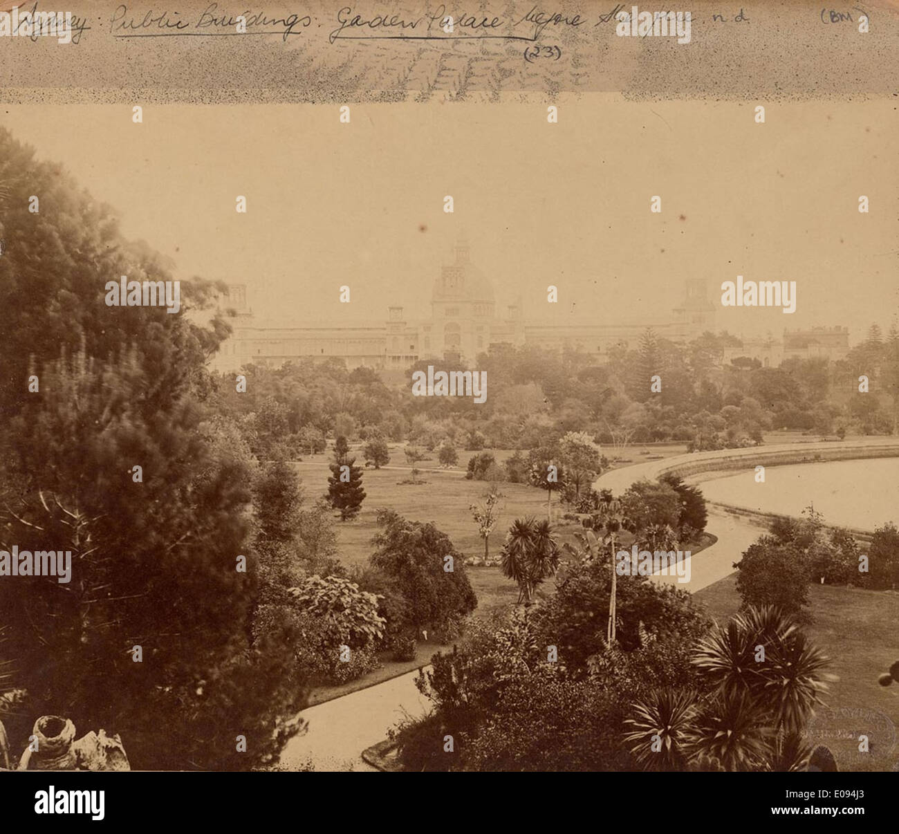 [View of Garden Palace looking south-west from top of Victoria Lodge, Botanic Gardens, Sydney], c. 1879-1882 by Stock Photo