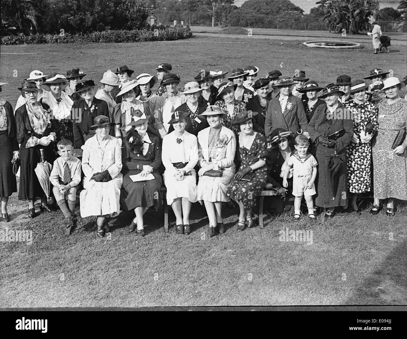 Country Women's Association at Gardens, 14 January 1937, by Sam Hood Stock Photo