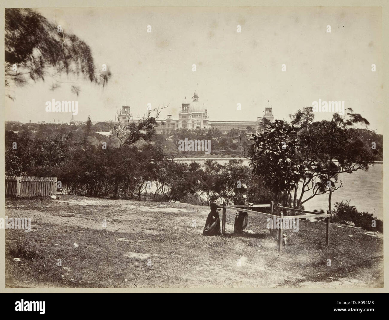 View from Mrs Macquarie's Point looking at Garden Palace c 1879, by Tronier Artist Photographer Stock Photo
