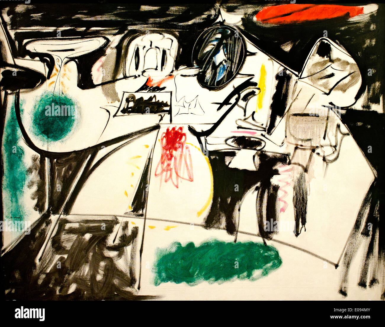 Last Painting (The Black Monk) 1948 Arshile Gorky 1905-1948 Armenia Armenian - Stock Image