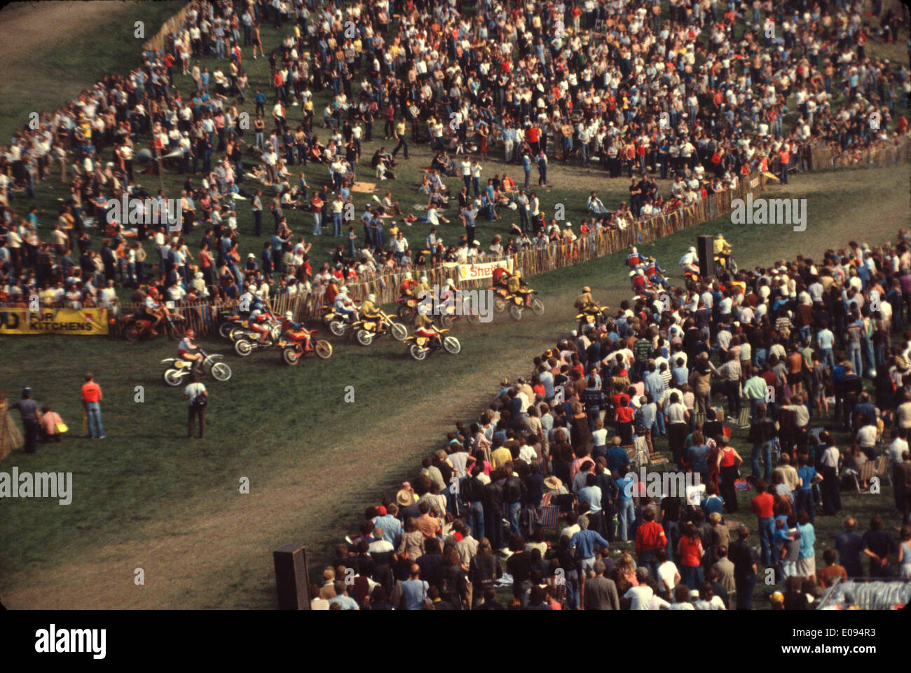 1980 Ken Hall International Sidecar  Moto Cross at Langrish in the UK. The first year the event went International - Stock Image