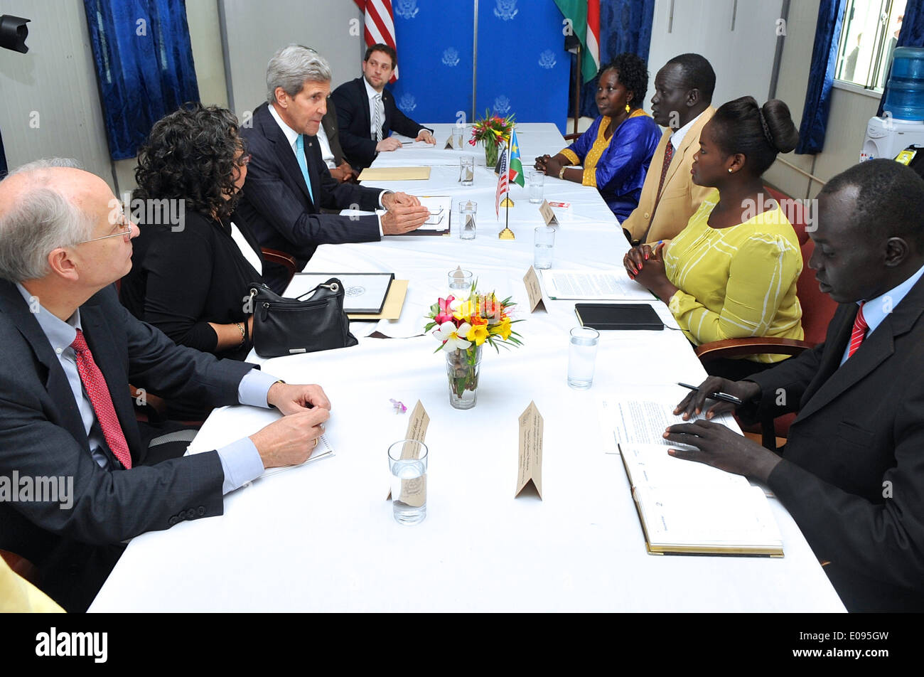 Secretary Kerry Meets With Members of South Sudanese Civil Society - Stock Image