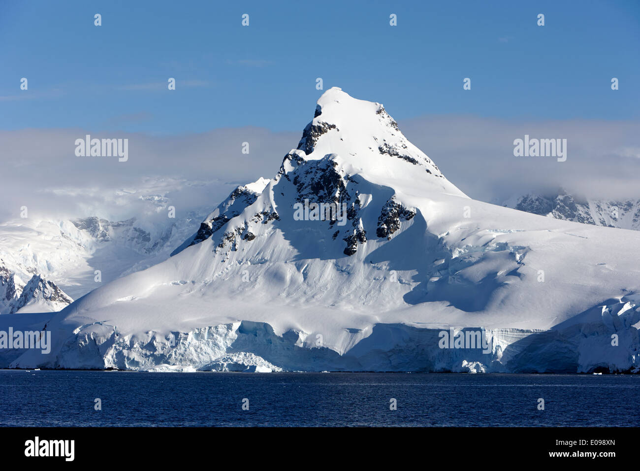 peak on ronge island Antarctica Stock Photo