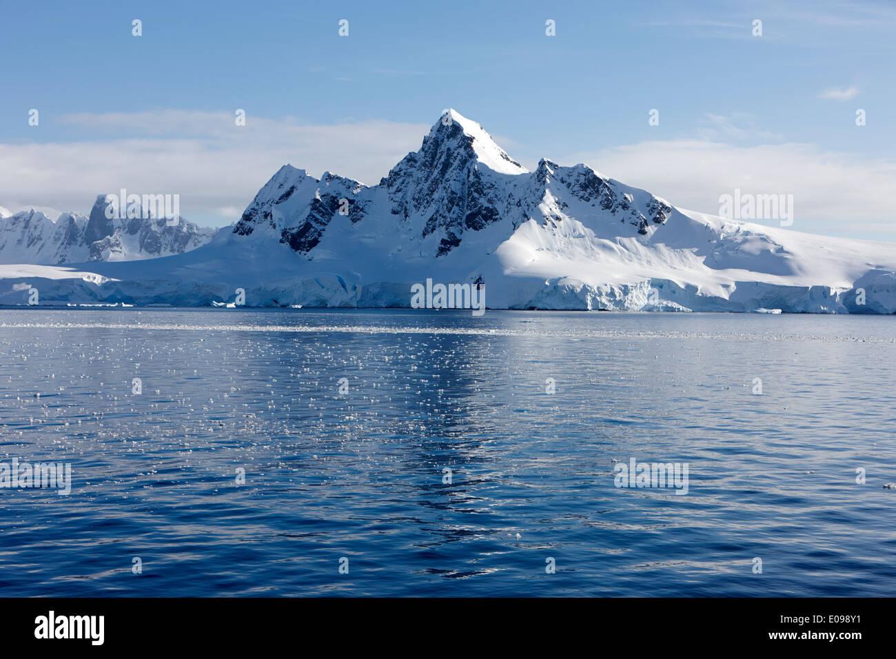 peak on ronge island Antarctica Stock Photo