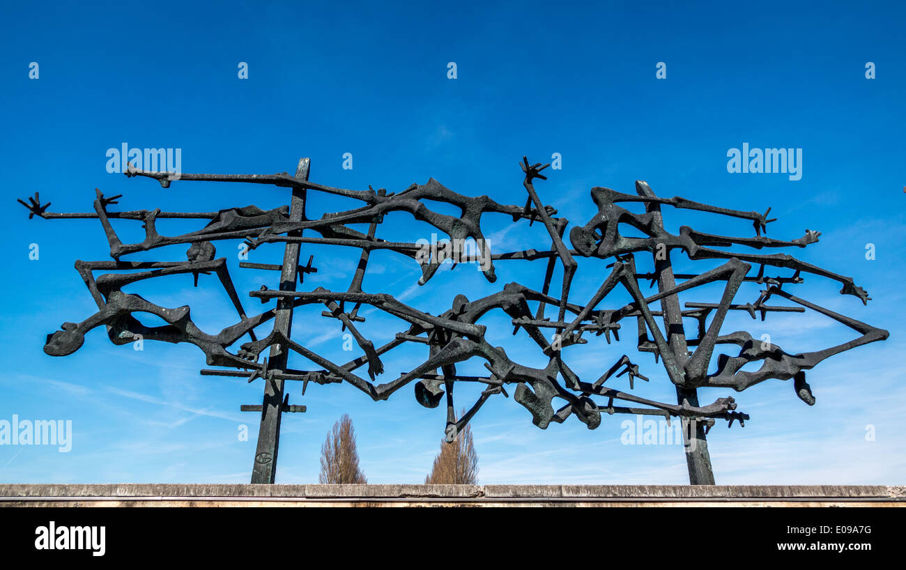 Dachau war memorial. Stock Photo