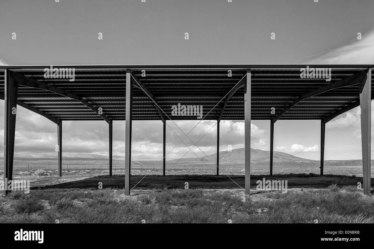 Livestock Shelter, California - Stock Image