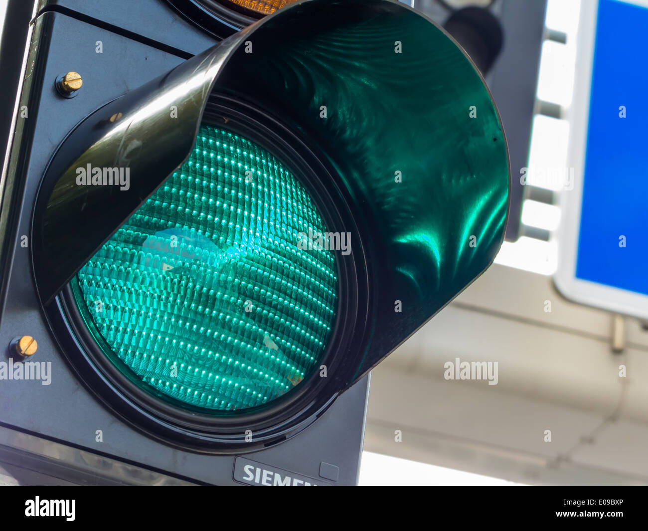 Your traffic light shines the green light. - Stock Image