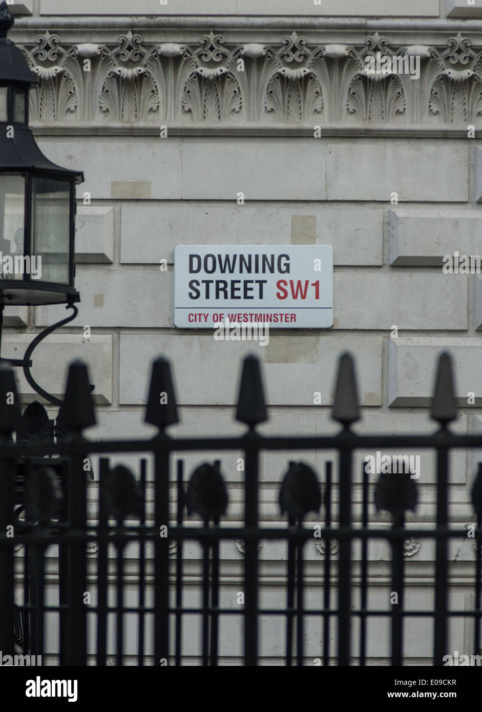 downing street sign, London - Stock Image