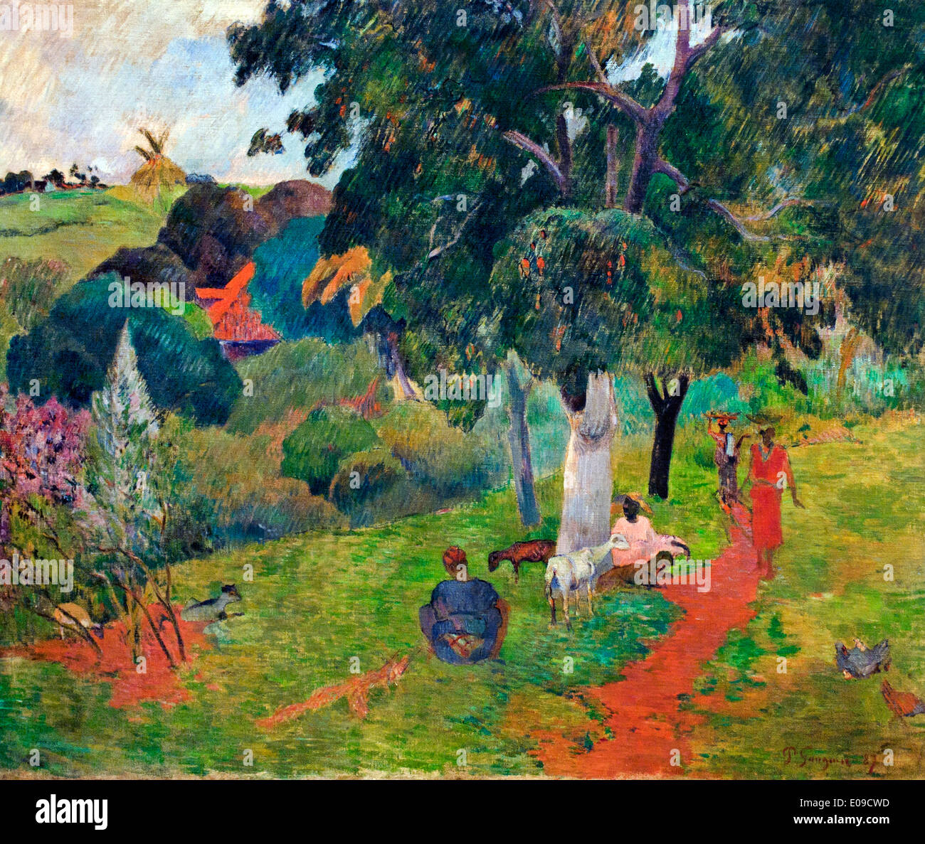 Allees et Venues Martinique 1887 Paul Gauguin 1848–1903 France French - Stock Image