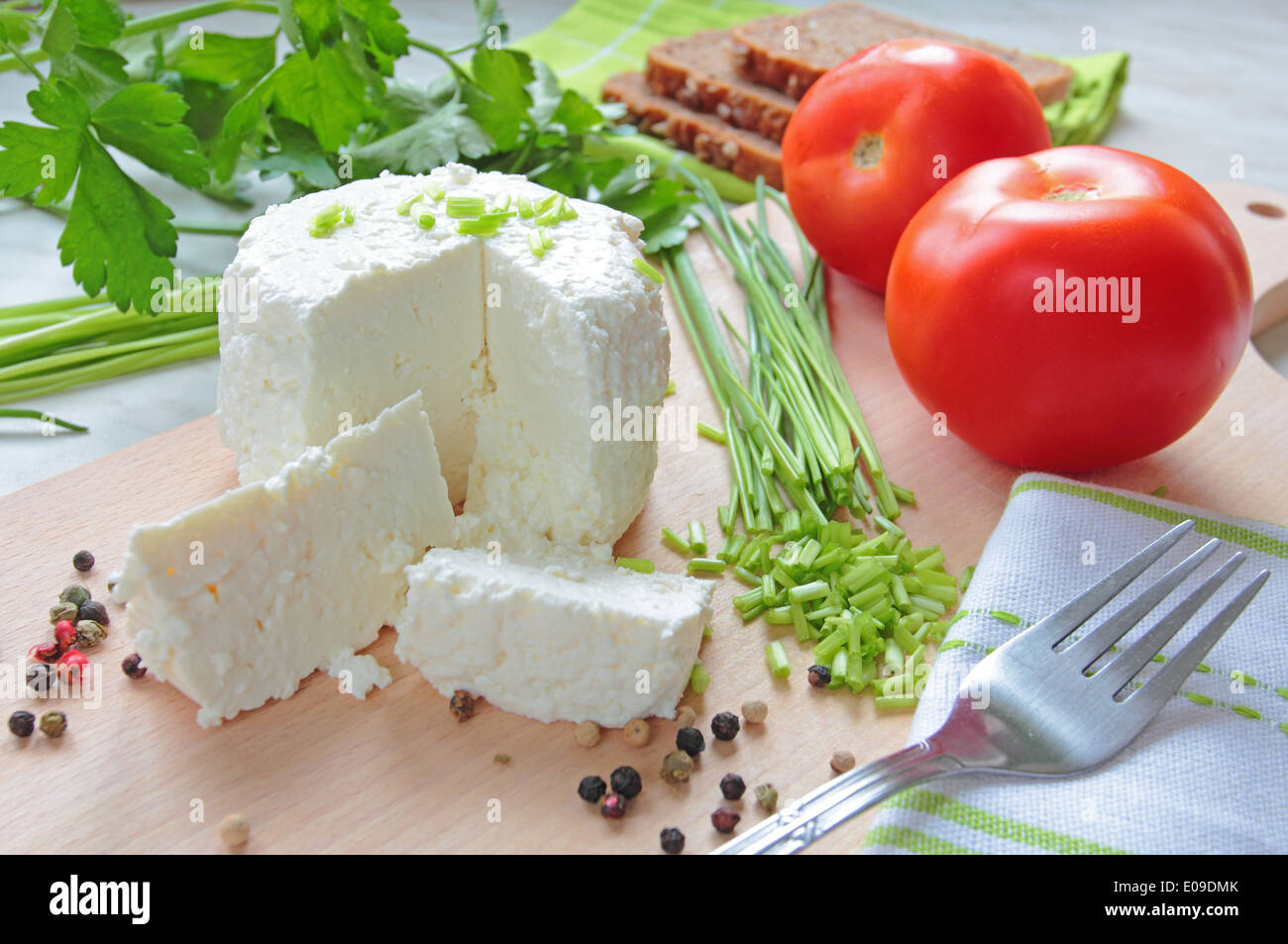 Cottage cheese - Stock Image