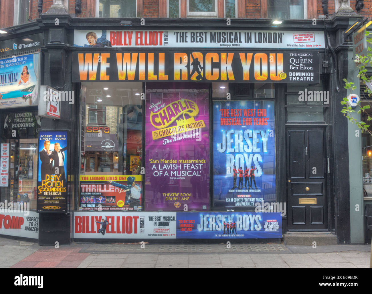 theatre posters,  theatreland, London - Stock Image