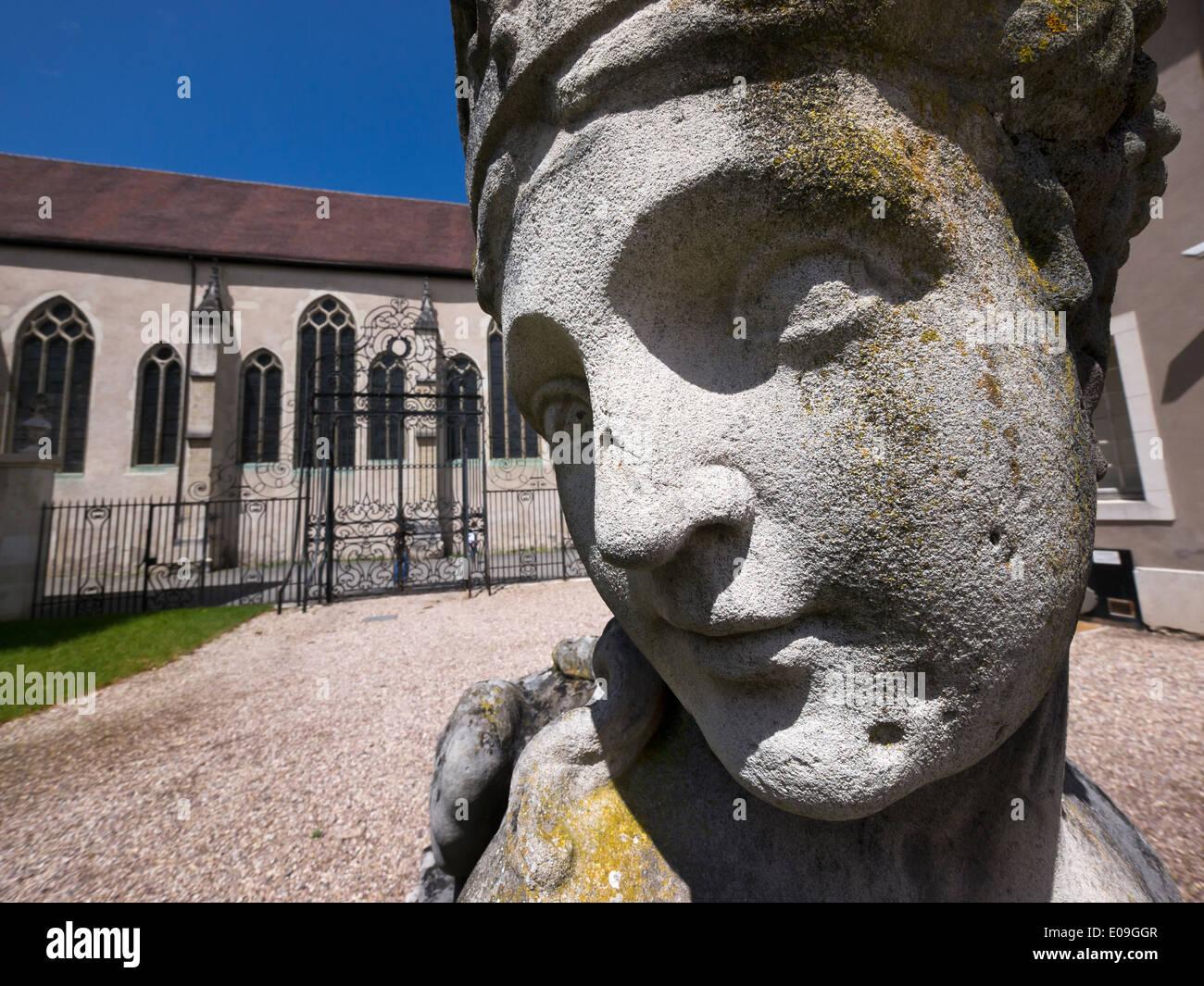 France, Nancy, Statue in garden of Musee lorrain - Stock Image