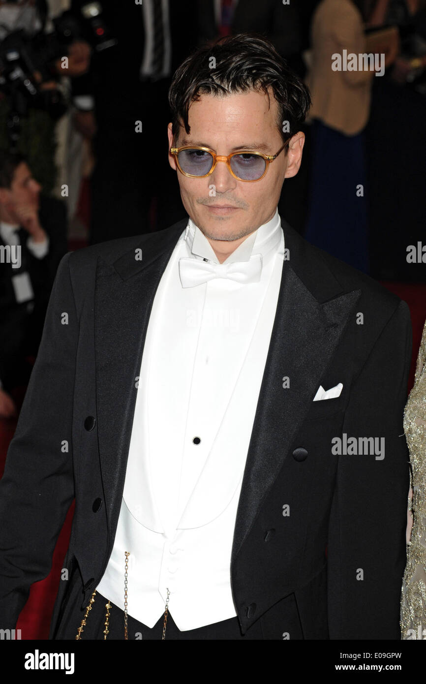 Johnny Depp attends the 'Charles James: Beyond Fashion' Costume Institute Gala held at the Metropolitan Museum of Art on May 5, 2014 in New York City/picture alliance - Stock Image