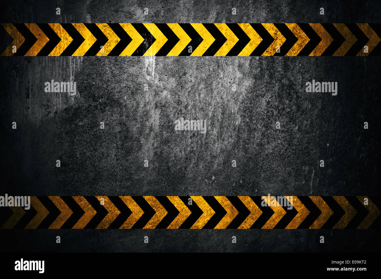 Asphalt background with black and yellow markings - Stock Image