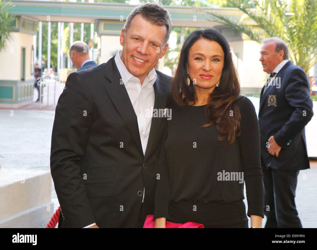 Herbolzheim, Germany - May 5, 2014: Eagles Charity Golf Cup and Gala at Golfclub Breisgau and Europa Park, Rust with Axel Kahn and wife Lena Credit:  dpa picture alliance/Alamy Live News - Stock Image
