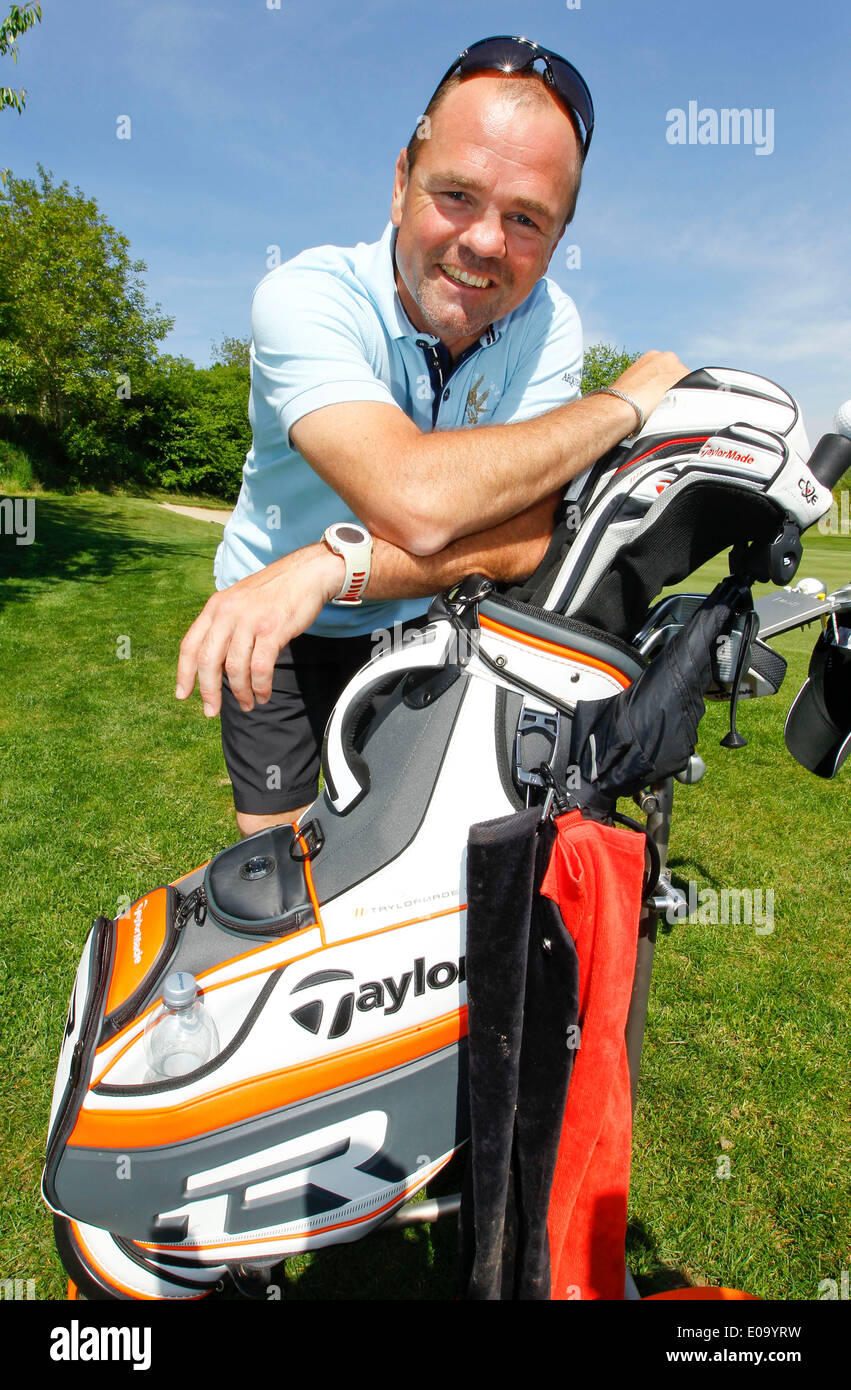 Herbolzheim, Germany - May 5, 2014: Eagles Charity Golf Cup and Gala at Golfclub Breisgau and Europa Park, Rust with ex Boxer Sven Ottke Credit:  dpa picture alliance/Alamy Live News - Stock Image