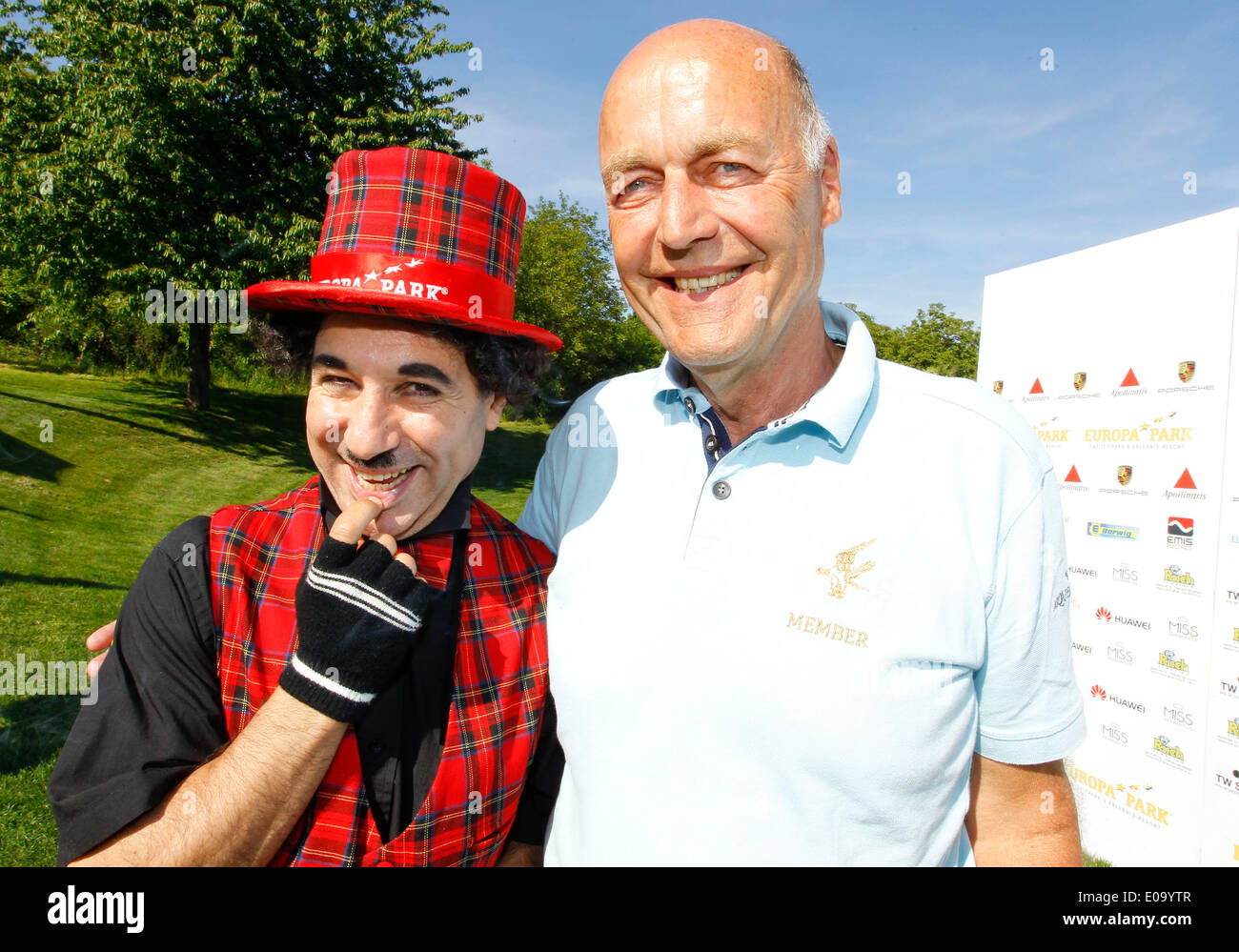 Herbolzheim, Germany - May 5, 2014: Eagles Charity Golf Cup and Gala at Golfclub Breisgau and Europa Park, Rust with Politician Laurenz Meyer and Charly Credit:  dpa picture alliance/Alamy Live News - Stock Image