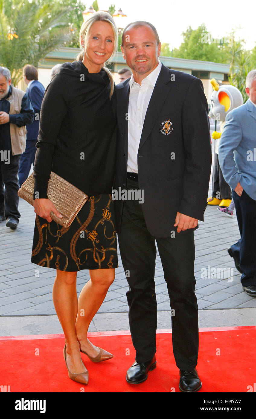 Herbolzheim, Germany - May 5, 2014: Eagles Charity Golf Cup and Gala at Golfclub Breisgau and Europa Park, Rust with ex Boxer Sven Ottke and wife Monic Frank Credit:  dpa picture alliance/Alamy Live News - Stock Image