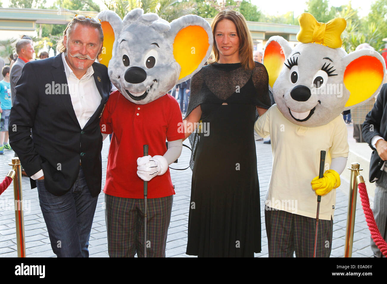 Herbolzheim, Germany - May 5, 2014: Eagles Charity Golf Cup and Gala at Golfclub Breisgau and Europa Park, Rust with Attorney and Actor Ingo Lenssen and Sport Commentator Jana Thiel Credit:  dpa picture alliance/Alamy Live News - Stock Image