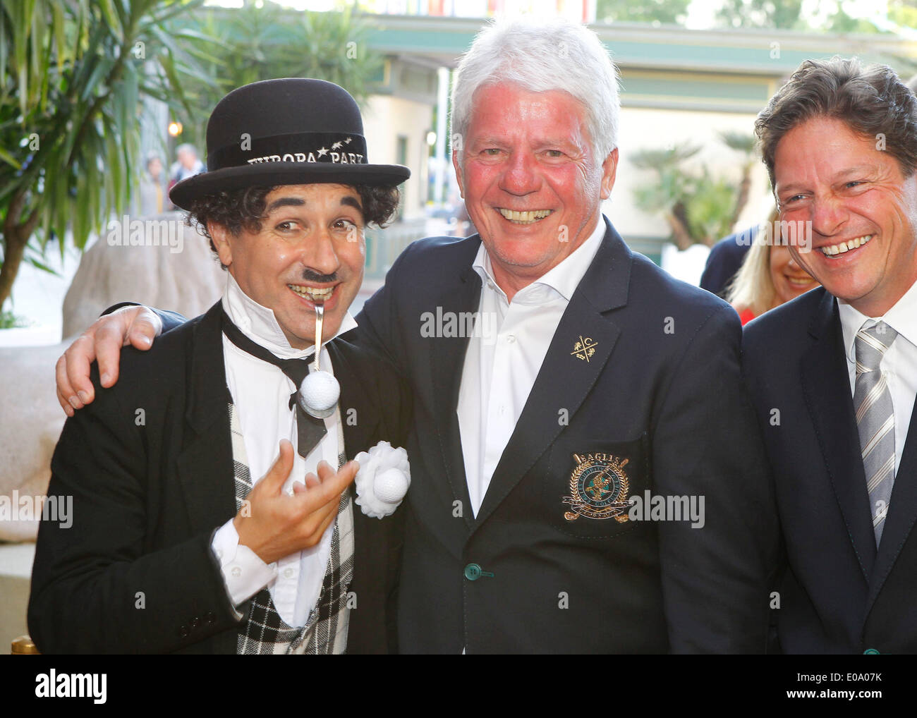 Herbolzheim, Germany - May 5, 2014: Eagles Charity Golf Cup and Gala at Golfclub Breisgau and Europa Park, Rust with Music Producer Thomas Stein and Charly Credit:  dpa picture alliance/Alamy Live News - Stock Image
