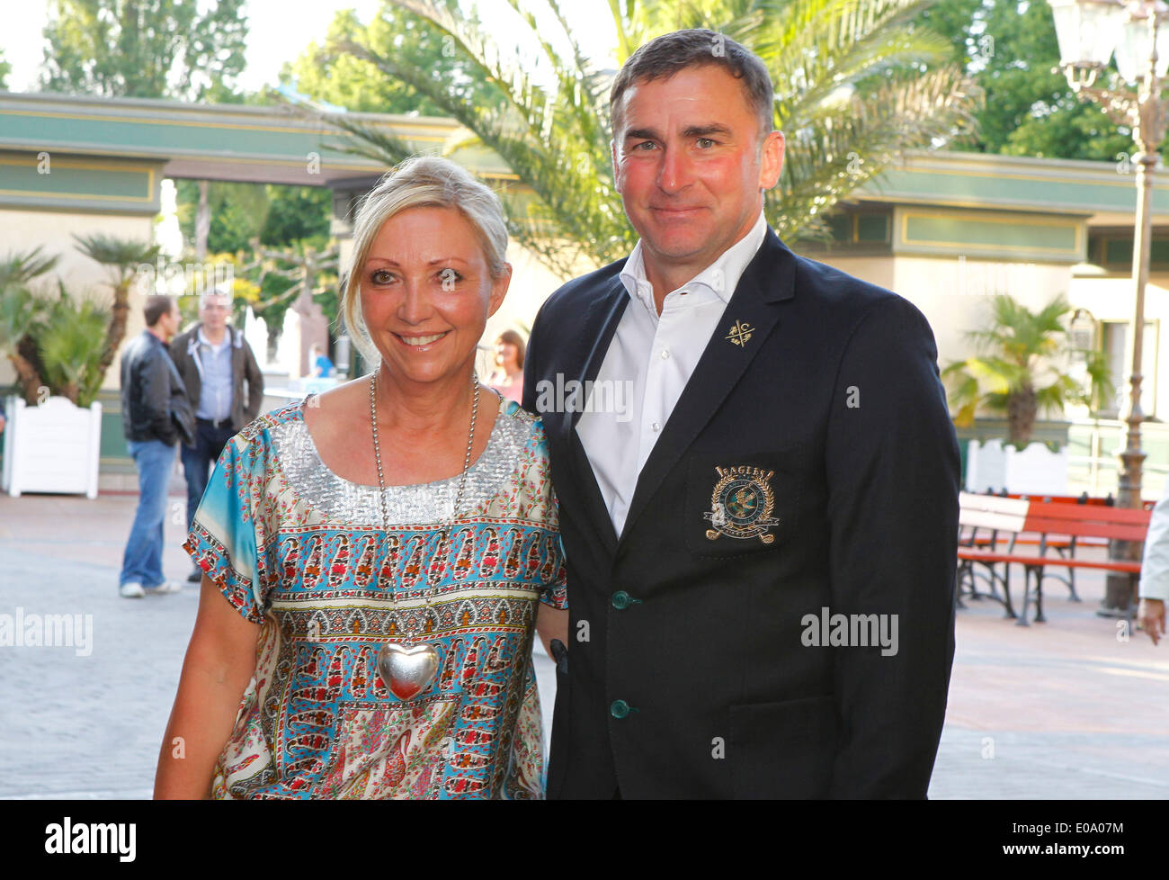 Herbolzheim, Germany - May 5, 2014: Eagles Charity Golf Cup and Gala at Golfclub Breisgau and Europa Park, Rust with Football Champion Stefan Kuntz and wife Sabine Credit:  dpa picture alliance/Alamy Live News - Stock Image