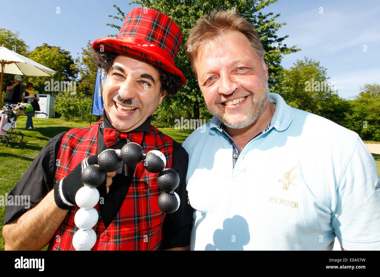 Herbolzheim, Germany - May 5, 2014: Eagles Charity Golf Cup and Gala at Golfclub Breisgau and Europa Park, Rust with Ski Cup Champion Jochen Behle and Charly Credit:  dpa picture alliance/Alamy Live News - Stock Image