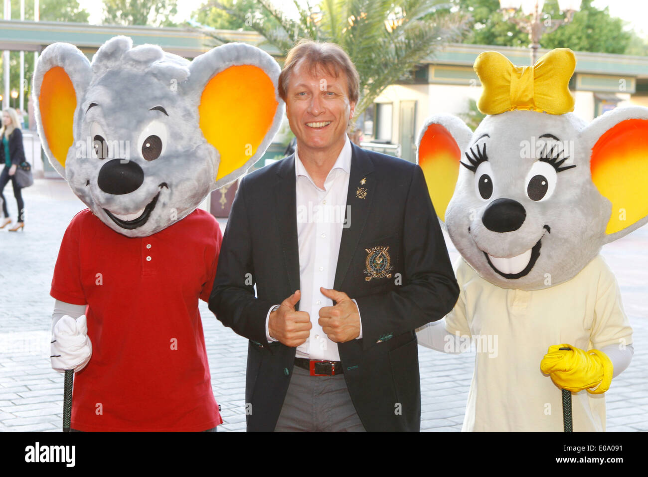 Herbolzheim, Germany - May 5, 2014: Eagles Charity Golf Cup and Gala at Golfclub Breisgau and Europa Park, Rust with ex Skater Norbert Schramm Credit:  dpa picture alliance/Alamy Live News - Stock Image