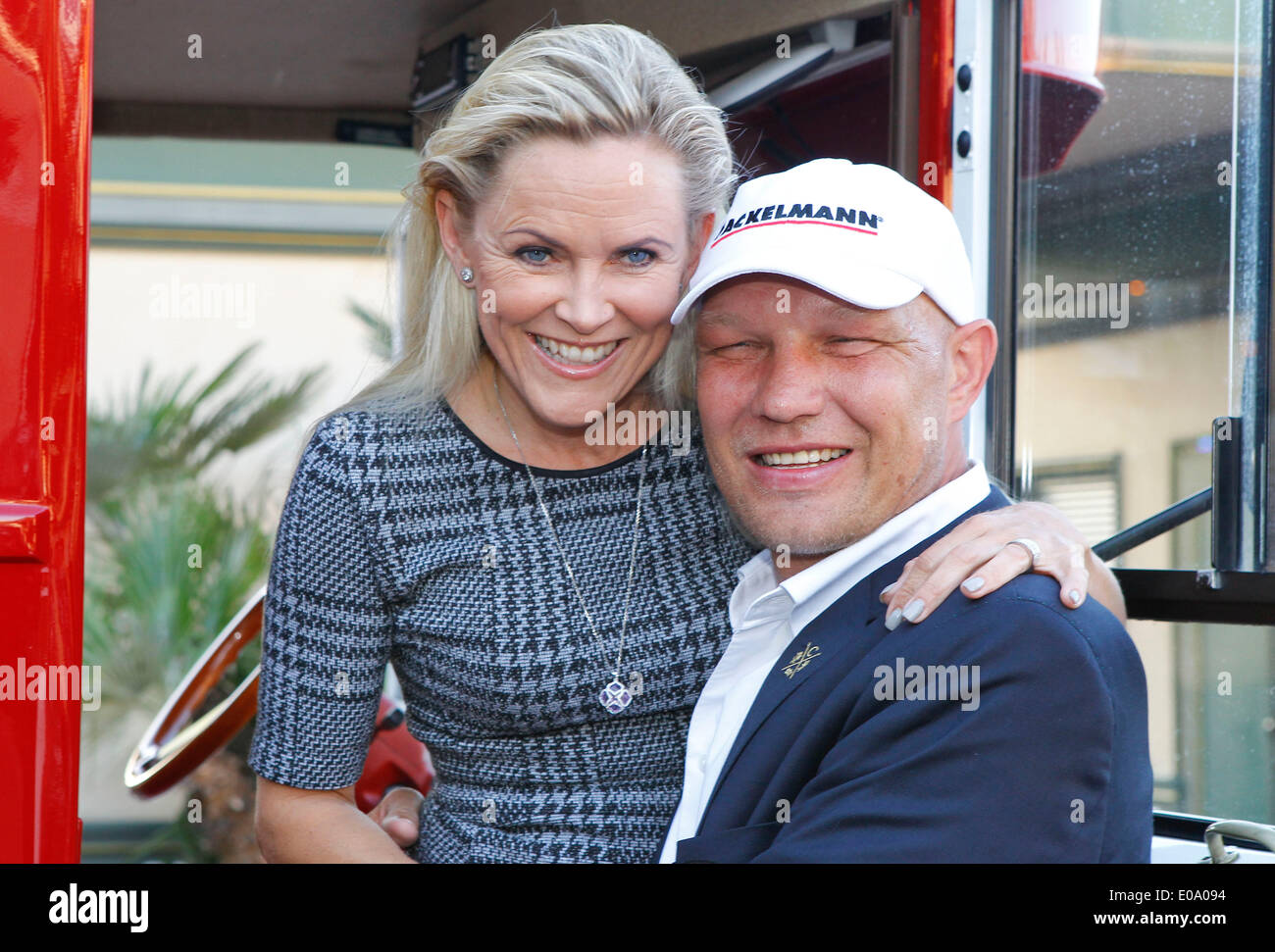 Herbolzheim, Germany - May 5, 2014: Eagles Charity Golf Cup and Gala at Golfclub Breisgau and Europa Park, Rust with ex Boxer Axel Schulz and wife Patrizia Credit:  dpa picture alliance/Alamy Live News - Stock Image