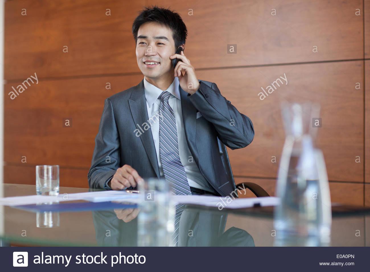 Portrait of confident businessman - Stock Image