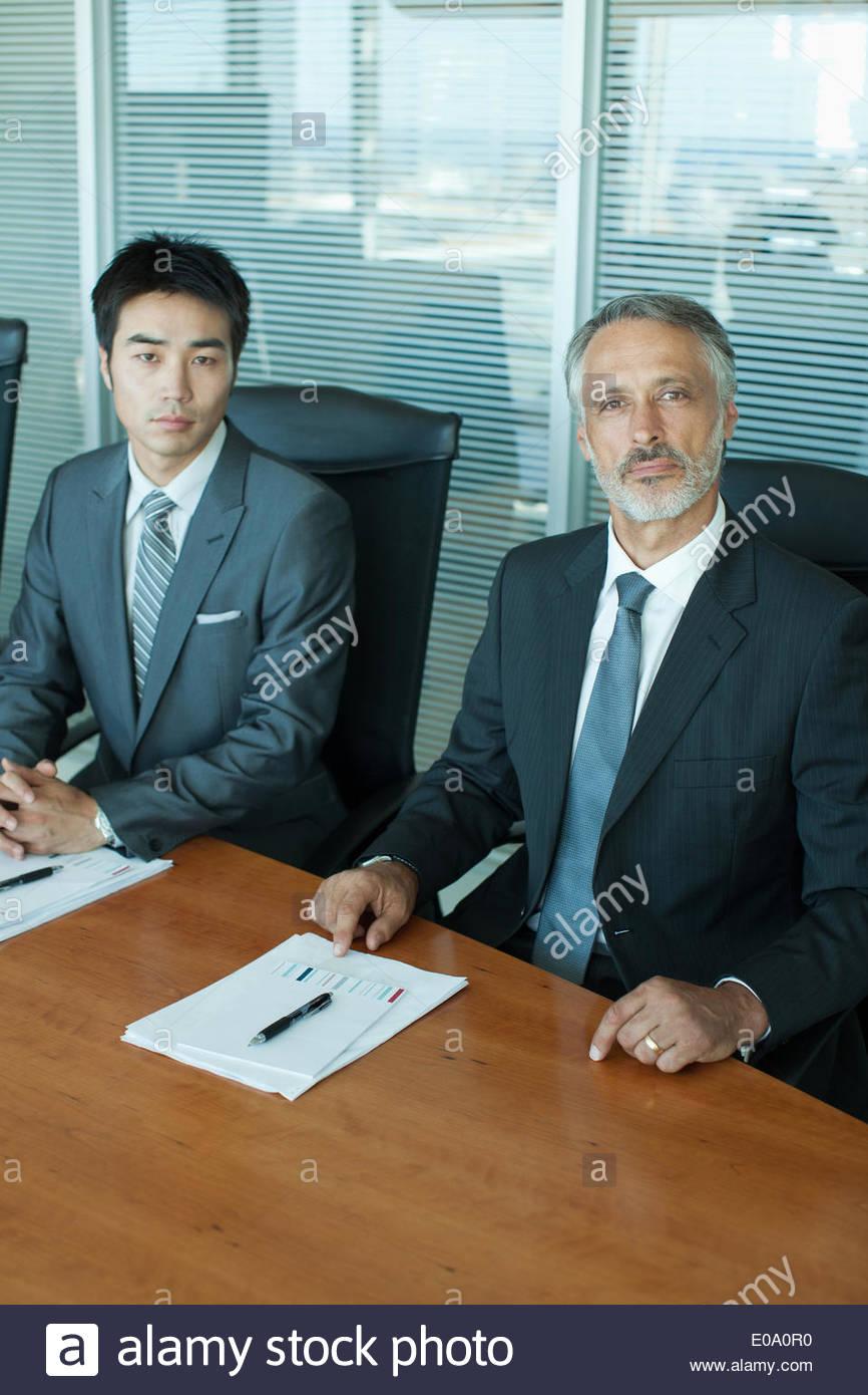 Businessmen in office - Stock Image