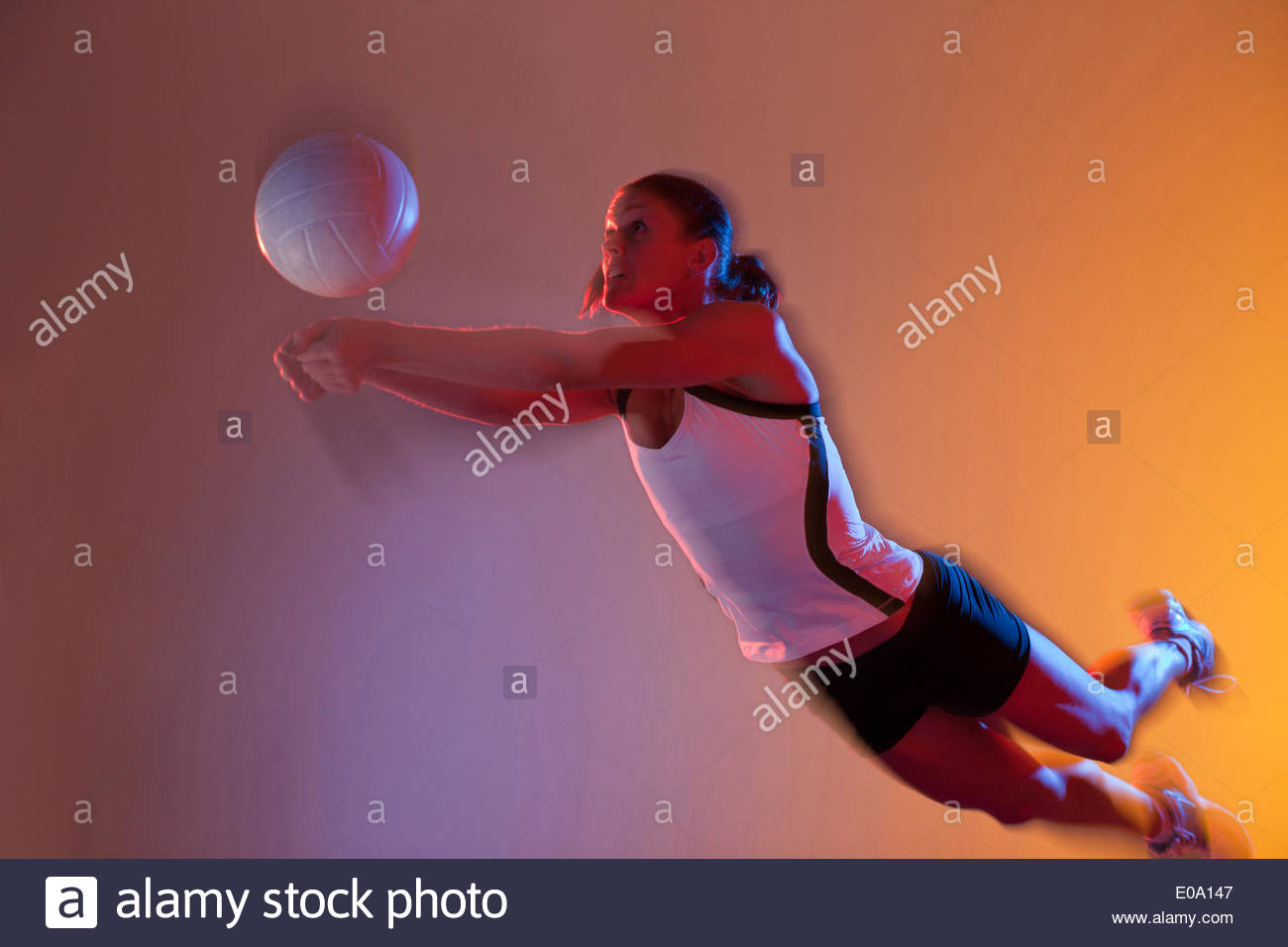 Volleyball player - Stock Image
