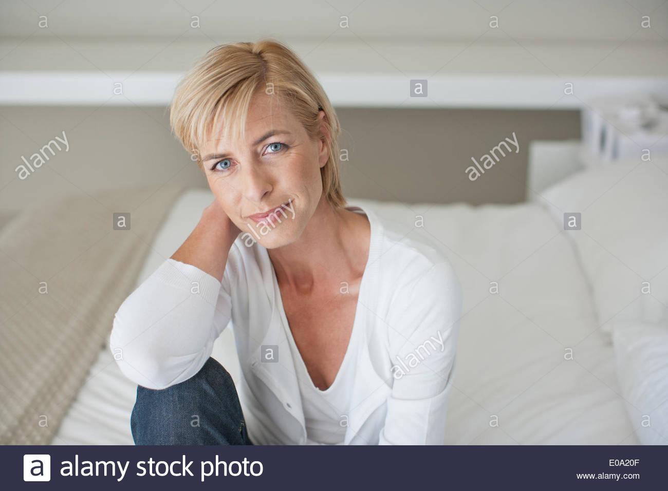 Mature woman - Stock Image