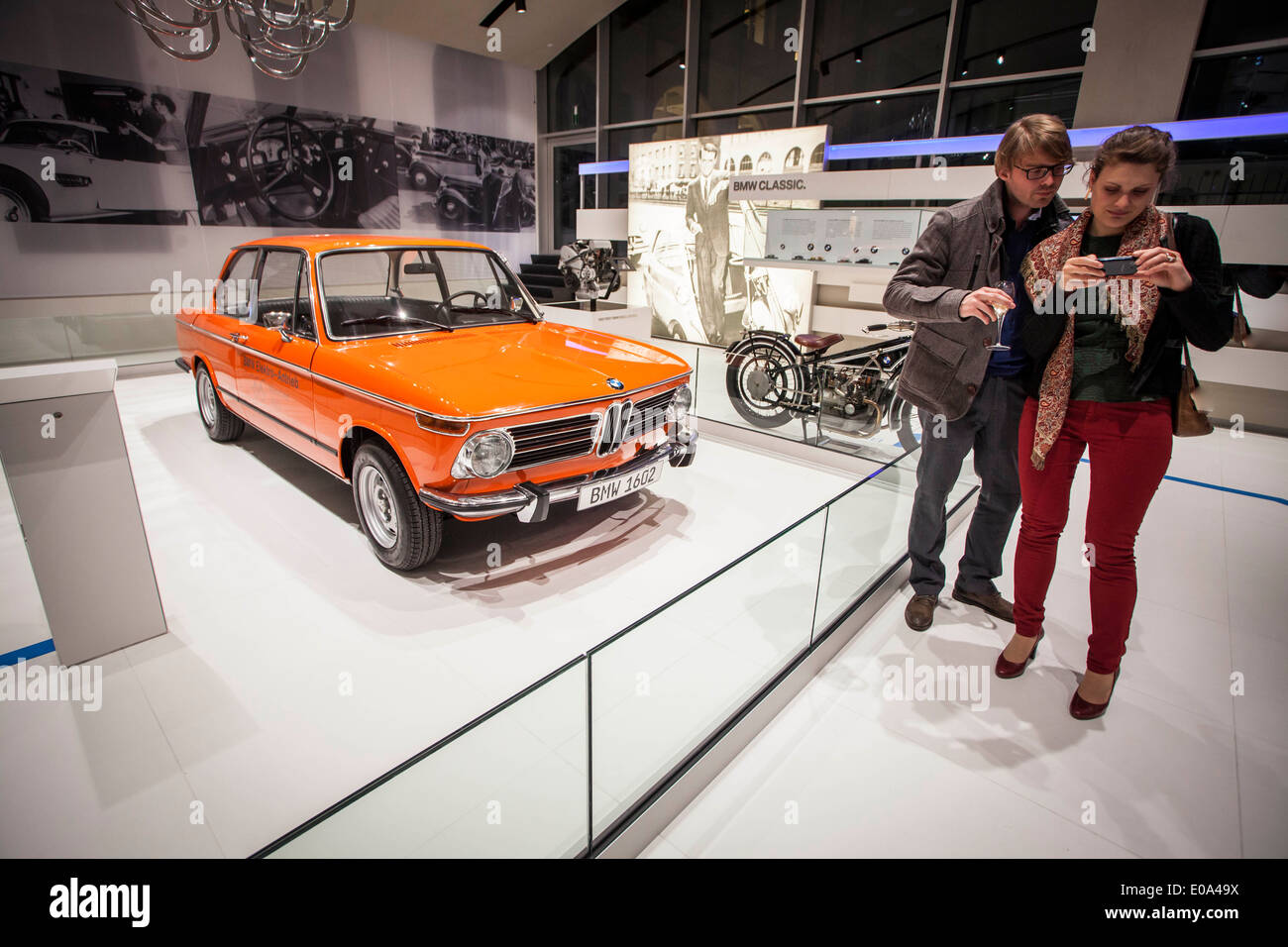 BMW 1602 in Brand Store in Brussels - Stock Image