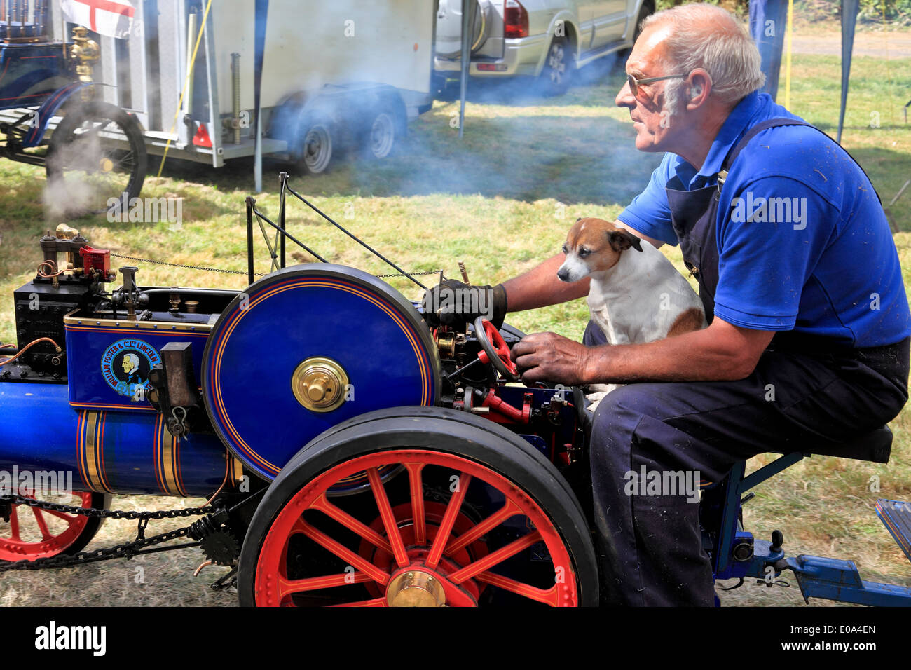 9418. Traction Engine miniature Rally, Fordwich, Kent, England - Stock Image