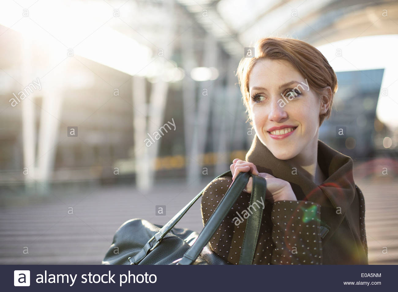 Young woman going on trip - Stock Image
