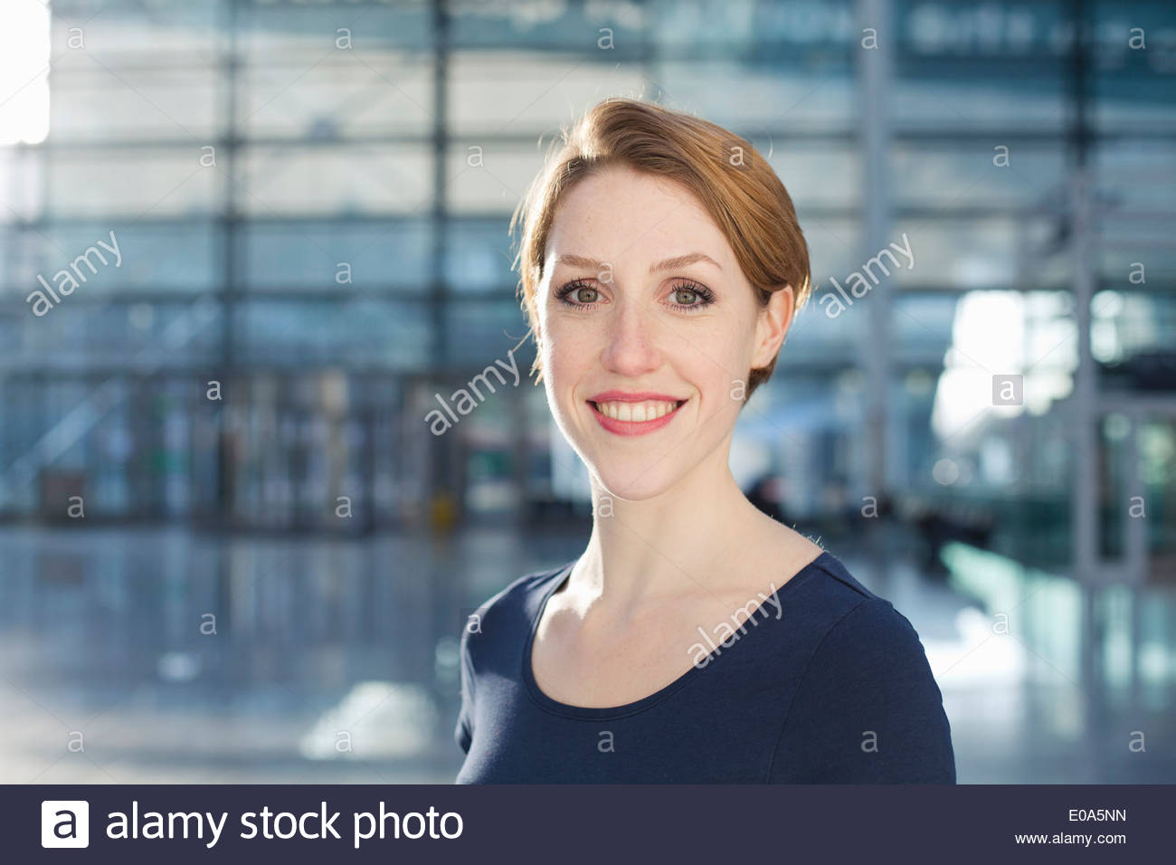Close up of young woman - Stock Image