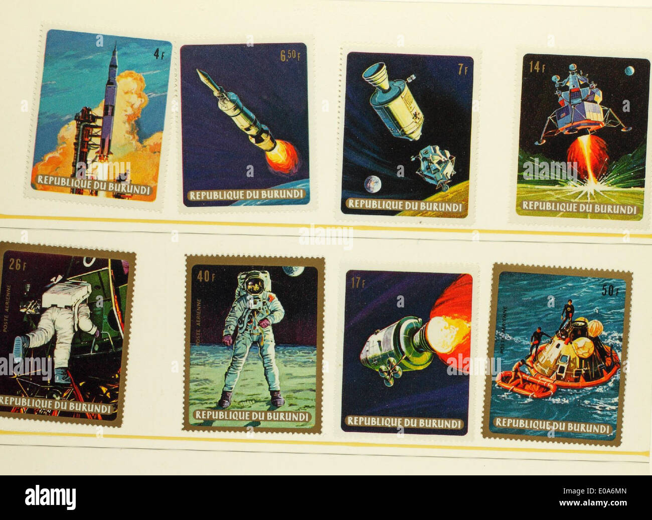 Space Stamps - Stock Image