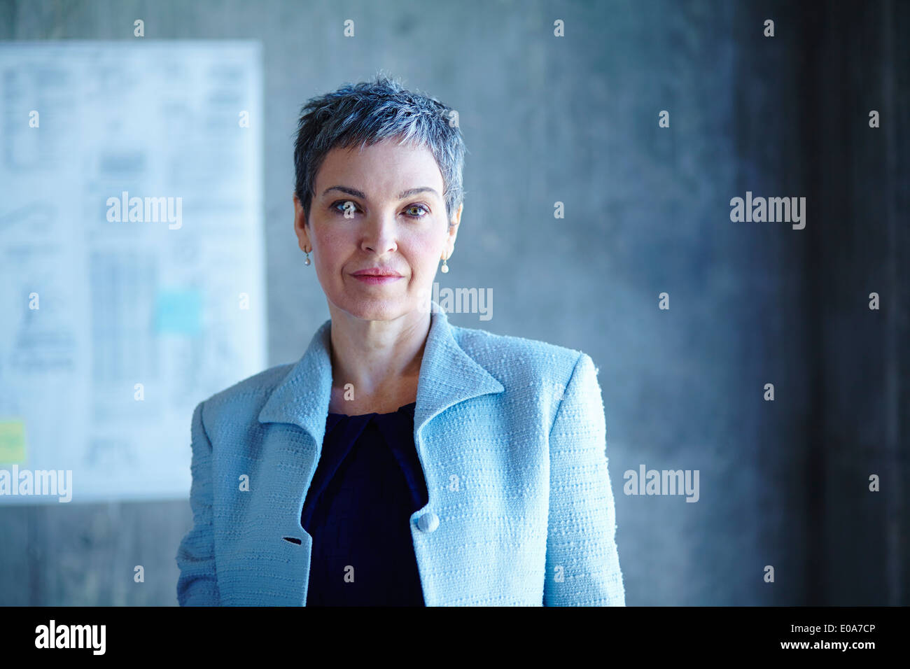 Portrait of determined mature businesswoman - Stock Image
