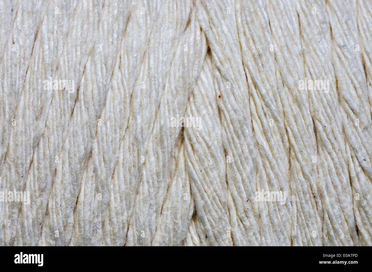 macro image of a spool of string for background - Stock Image