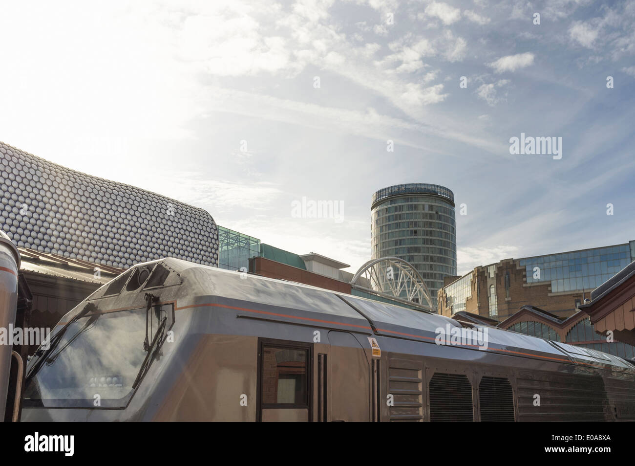 View of the bullring from Birmingham Moor Street train station, West Midlands, UK - Stock Image