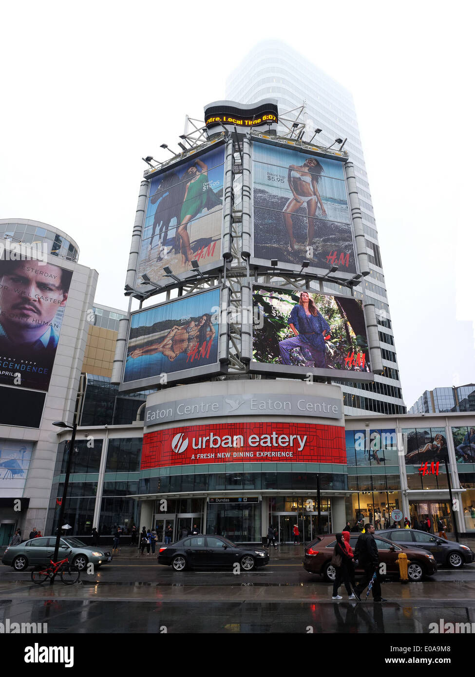 Electric billboards in Yonge-Dundas square in Toronto. - Stock Image