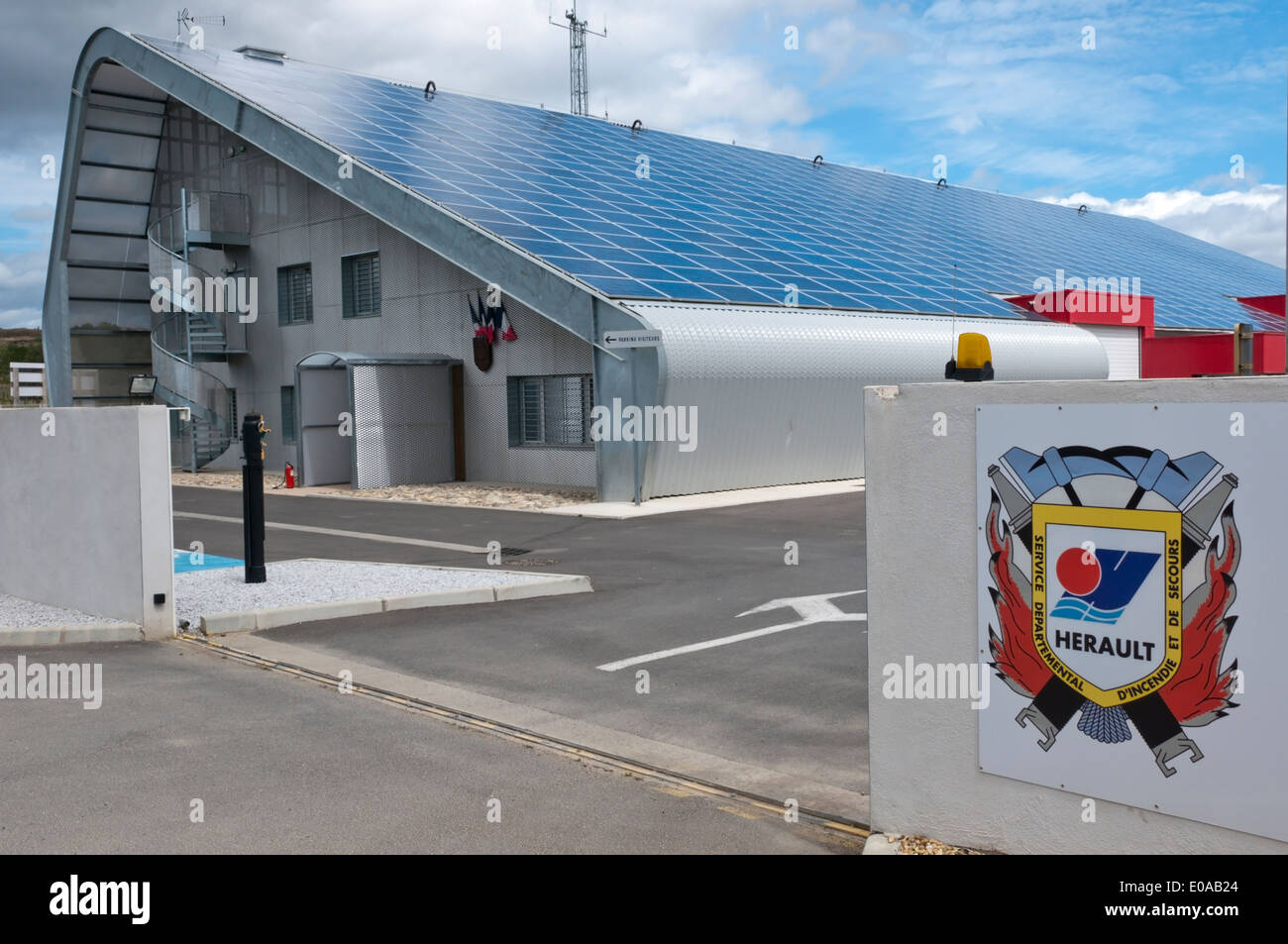 Herault Coat Of Arms On Wall Outside Local Fire Station With Roof Stock  Photo: 69069676   Alamy