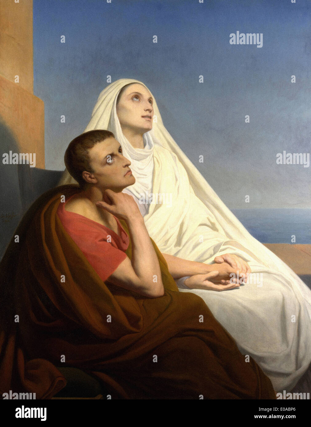 Ary Scheffer Saints Augustine and Monica - Stock Image