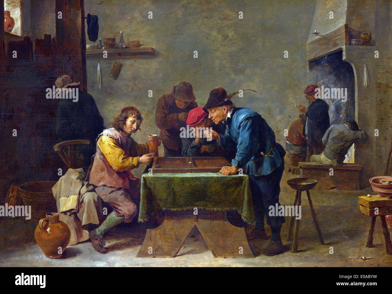 David Teniers the Younger Backgammon Players - Stock Image