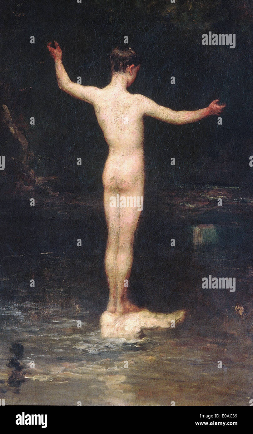 William Morris Hunt The Bather - Stock Image